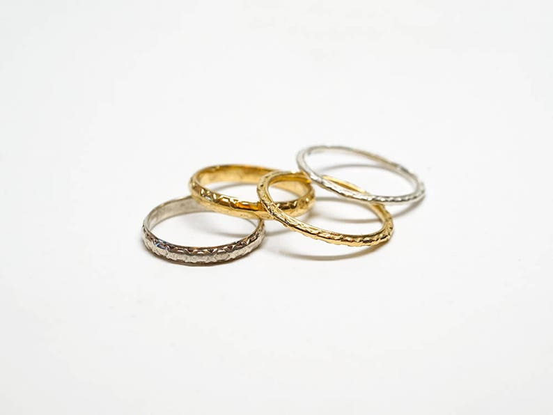 Stack Ring for Her Minimal Ring Sterling Silver Dainty Ring Silver Wedding Ring Slim Band Thin Stack Wedding Band Ring