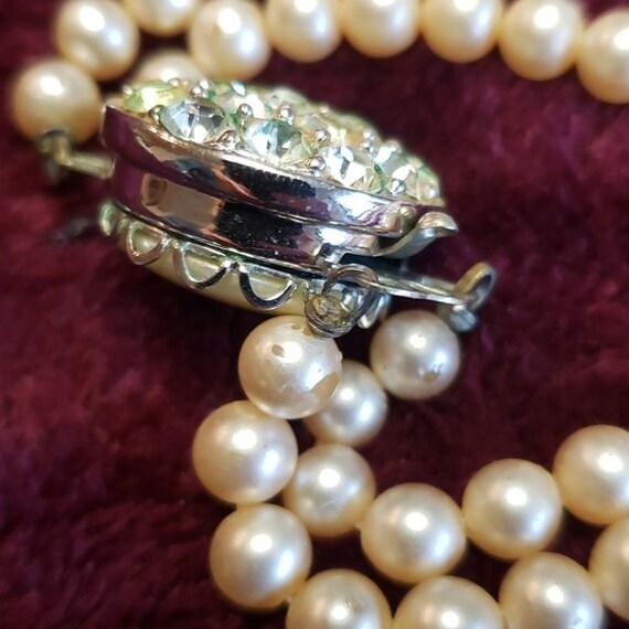 Sarah Coventry faux pearl & glass rhinestone chok… - image 7