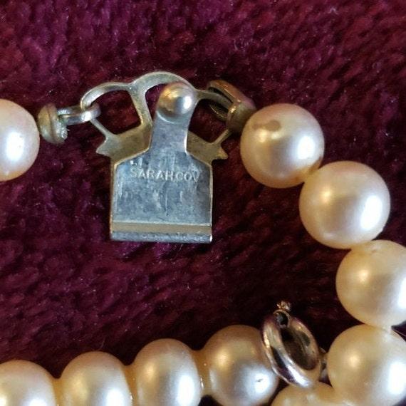 Sarah Coventry faux pearl & glass rhinestone chok… - image 3
