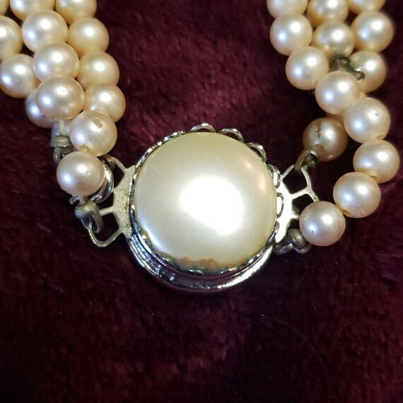 Sarah Coventry faux pearl & glass rhinestone chok… - image 5
