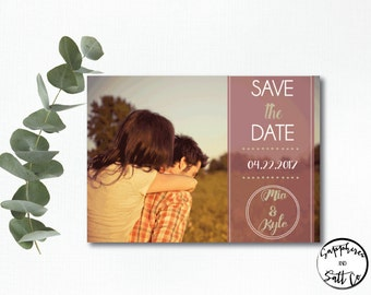 Save The Date Card -  Save The Date - Rustic -  Save The Date Design - Save the Date Card Wedding - Save the date announcement