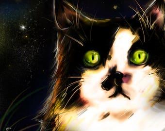 custom pet portrait, custom cat portrait,dog, custom pet portrait digital, Portrait commission, custom portrait illustration,pet memorial,