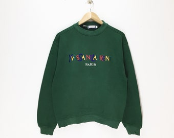 c6560f9c079 Rare Vintage YvesSaintLaurent Sweatshirt / YSL Paris Sweatshirt / Spellout  Multicolor Big Logo / Jumper Pullover Crewneck Stylish Style