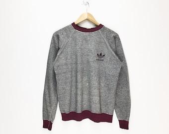 Rare Vintage Adidas Sweat   pull pull 90 s souple coton   style de vie    Adidas Logo Trefoil a3a4d32b9b83