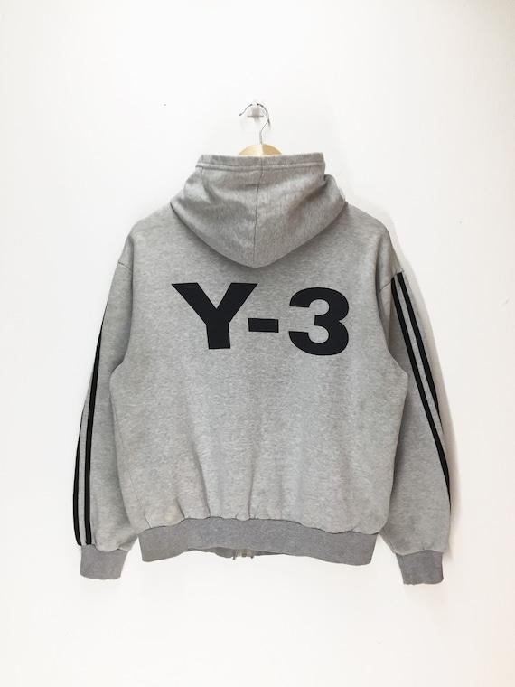 Logo Vintage Medium Large Rare Vintage Up Sweater x Zipper Yamamoto Yohji Adidas Big Gray Size Adidas Sweater Colour Fit vBv1wqz
