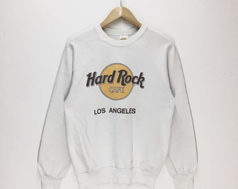 Rare Vintage Hard Rock Sweatshirt / Hard Rock Cafe / Hard Rock Los Angeles / Vintage 80s Hard Rock