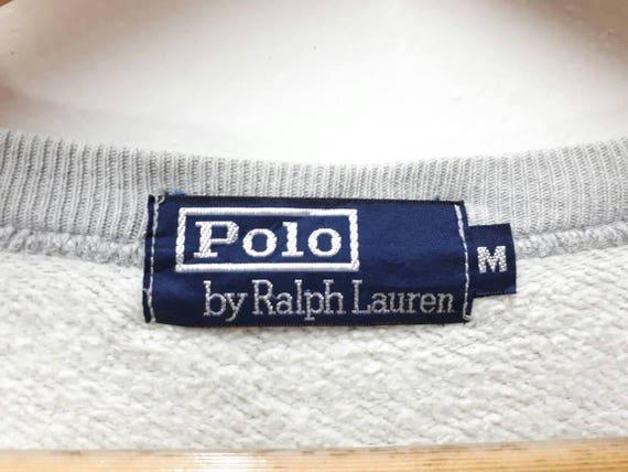 Big Vintage Sweater Ralph Lauren Polo Logo Spellout Sweatshirt Jumper xxAqv1S
