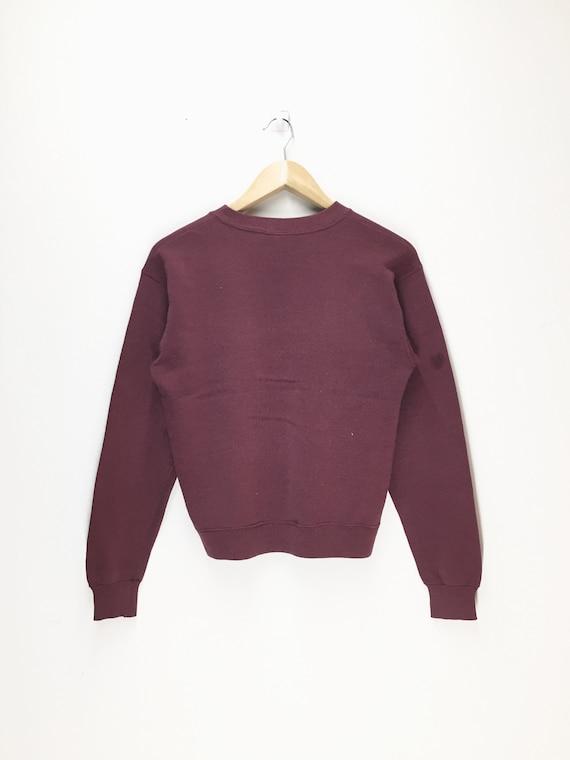 Mash 4077 Army 80s Colour Mash 1980s Maroon Rare th Vintage Sweatshirt Size Small zXwngEq