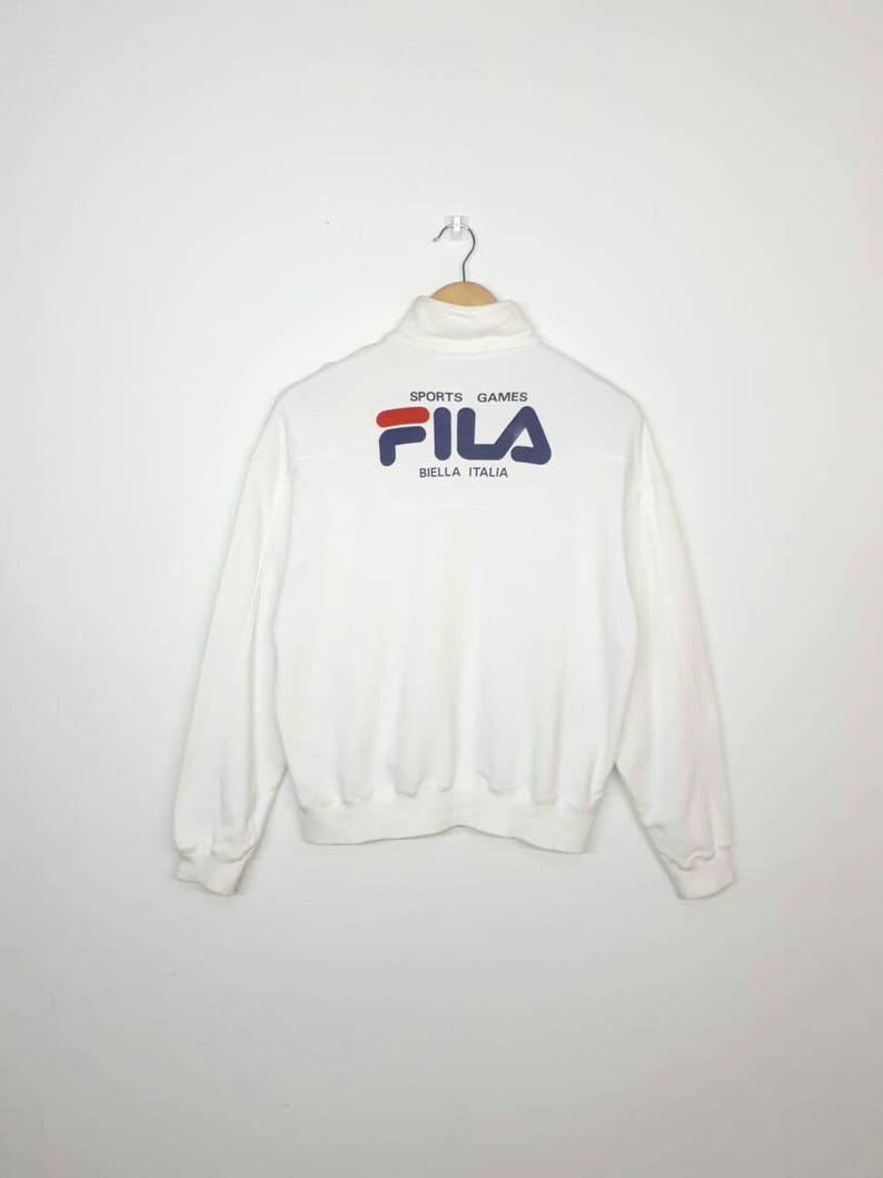 36f70e796cf Vintage 80s Fila Sweater / Zipper Up / Fila BJ / Fila | Etsy