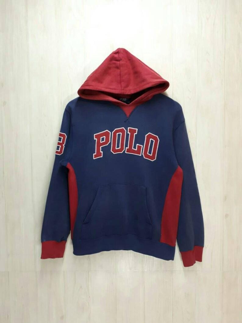 0ab46f0f9e38 Vintage Polo Ralph Lauren Hoodie Pullover Jumper Sweatshirt | Etsy