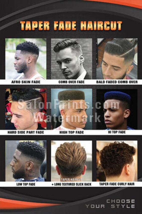 Mesh Vinyl BSP-P037 Taper Fade Haircut High Top Fade Details about  /Hair Salon Poster