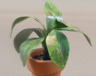 Dollhouse Miniature Plant for dollhouse scale of 1:12; twelfth scale.  Item #185.