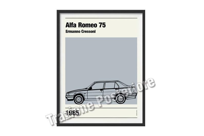 Graphic poster Alfa Romeo 75 theme