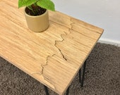Bench,Seat,Wood Bank,Lowboard made of solid maple,Hairpinlegs,Flur,Handicrafts from Remagen/Rhine,NACHHALTIG,UPCYCLING