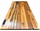 table top, wood top, reclaimed wood sheet oak, solid wood,thickness 4 cm,customizable,handicraft from Remagen,NACHHALTIG,UPCYCLING
