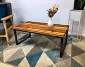 Coffee table,living room table,coffeetable,table in atwood oak,PERSONALISIERBAR,craftsmanship from Remagen,UPCYCLING
