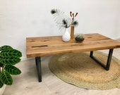 Living Room Table Coffeetable Coffee Table Table Steel Oak Reclaimed Wood
