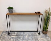 Side table, consol table, highboard, wall console made of old oak, reclaimed wood, craftsmanship from Remagen/Rhine,Upcycling
