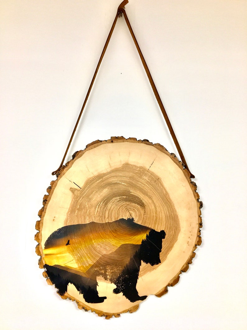 wooden disc tree disc wall decoration wall decoration image 0