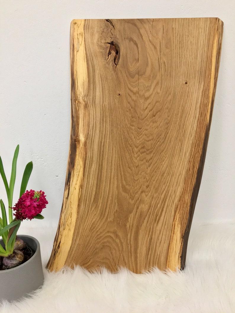Wooden top table top washbasin top solid oak wood board image 0