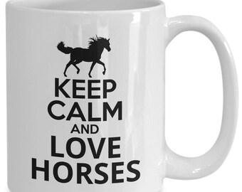 Horse coffee mug - horses tea cup/decal, equestrian mugs, horse lover gift for women