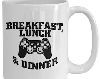 Video game mug, geeky coffee cup, funny gamer coffee mug, geek birthday gift, geek gamer gift mug
