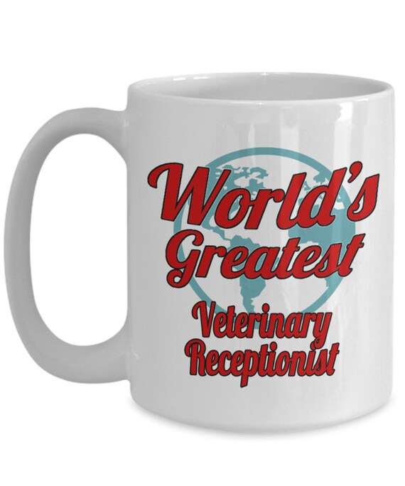 Great Gift Idea This Is What An Awesome Receptionist Looks Like Red Ribbon Design Tea//Coffee Mug//Cup