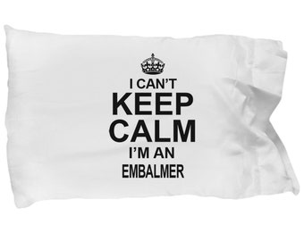 Embalmer gifts - pillowcase for embalmers, embalming practitioner standard size pillow case