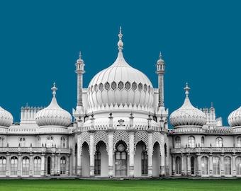 Brighton Pavilion original artwork, London, Litho Style Print, A4 Print, Art Print, Christmas gift