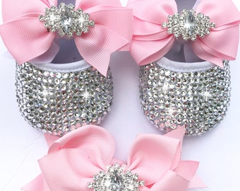 f968984b8035 2 pieces crystal baby shoes  savarovsk baby shoes sparkling shoes rhinestone  baby shoes  birthday shoes bling shoes   crystal baby shoes