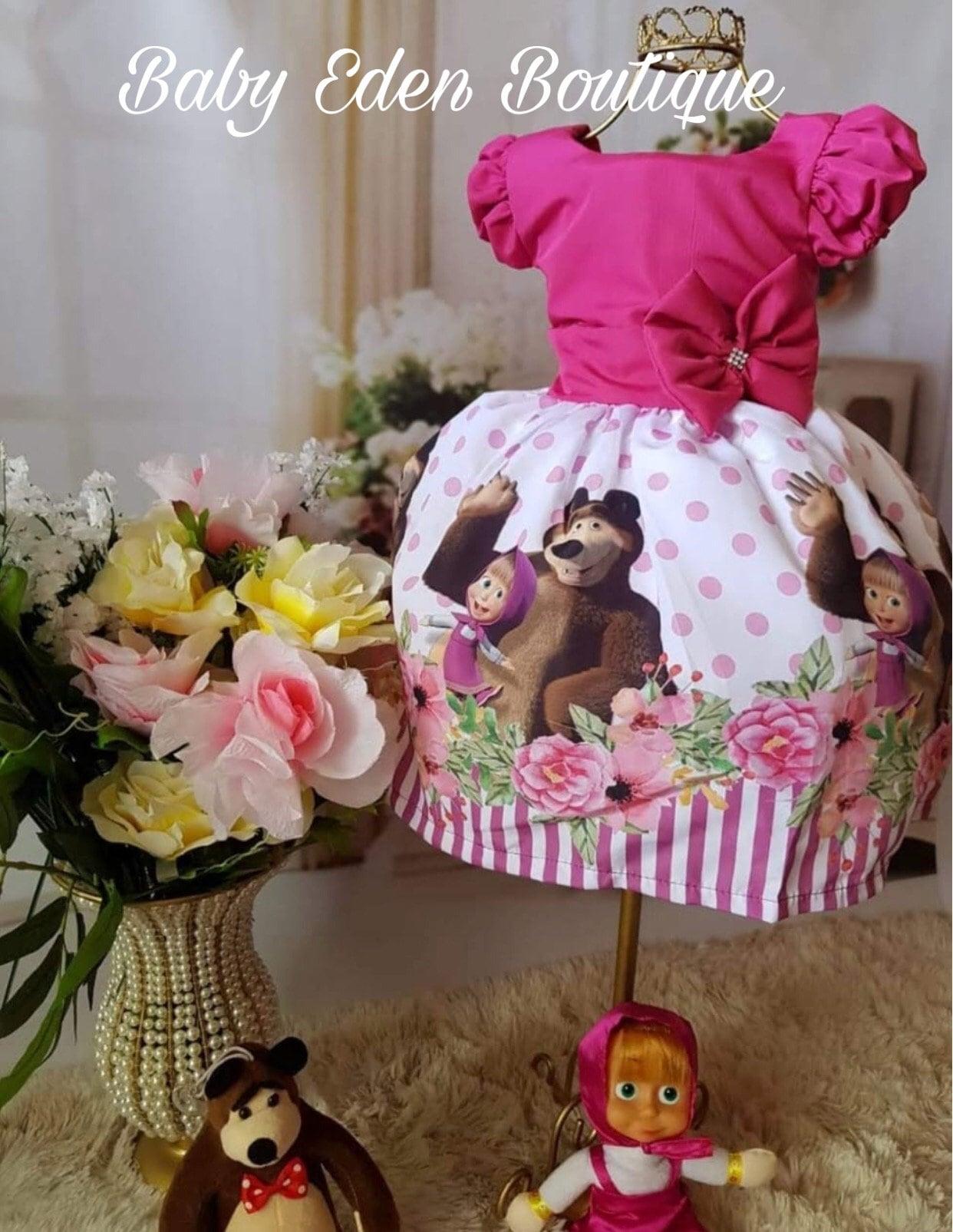 5a8d52f3de12e Free shipping /Masha and bear dress/birthday dress masha/special  dress/masha dress/theme birthday dress masha/masha /birthday dress