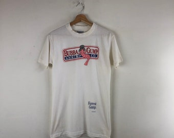 9bca0ad0 Vintage Forrest Gump Shirt / Bubba Gump Shrimp Co / Stanley Desantis Shirt  / Movie T Shirt