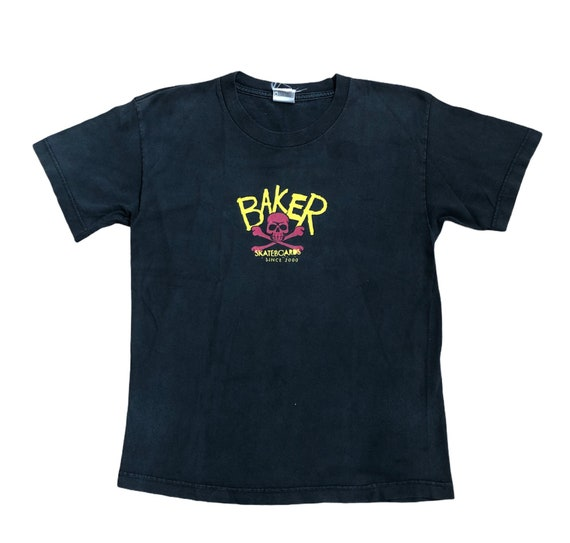 Vintage Baker Skateboards Shirt Skull And Bones /