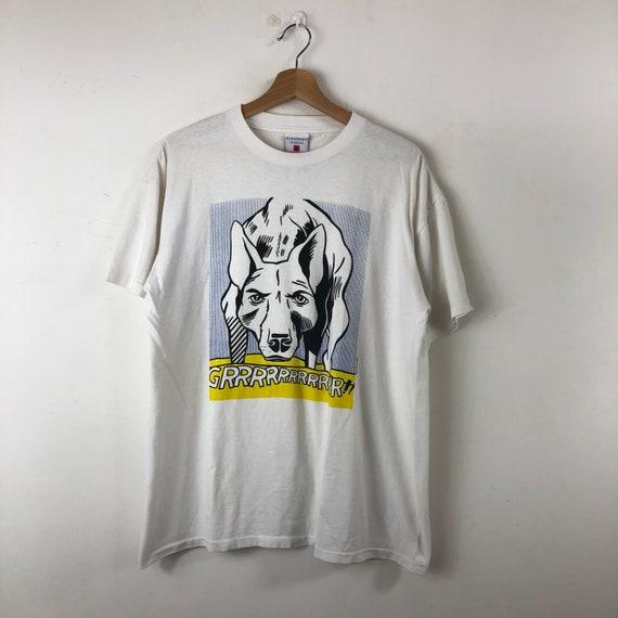 Vintage 90's Roy Lichtenstein Shirt / Grrrrrr / Do