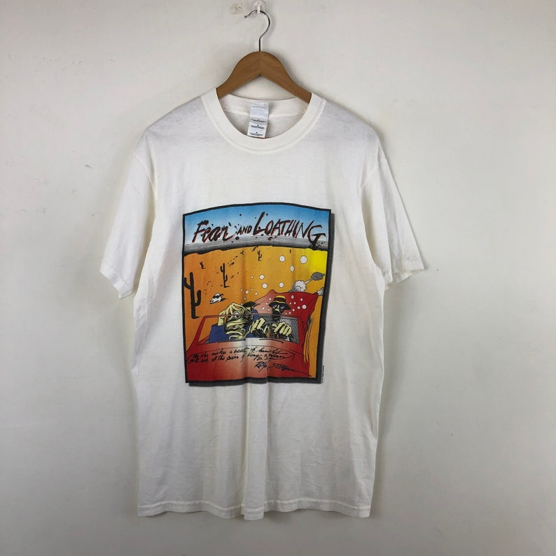 Vintage Fear And Loathing In Las Vegas Shirt  Artwork By Ralph Steadman  Movie Shirt