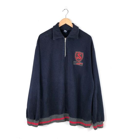 Vintage Stussy 1/4 Zipper Pullover / Stussy Crewne