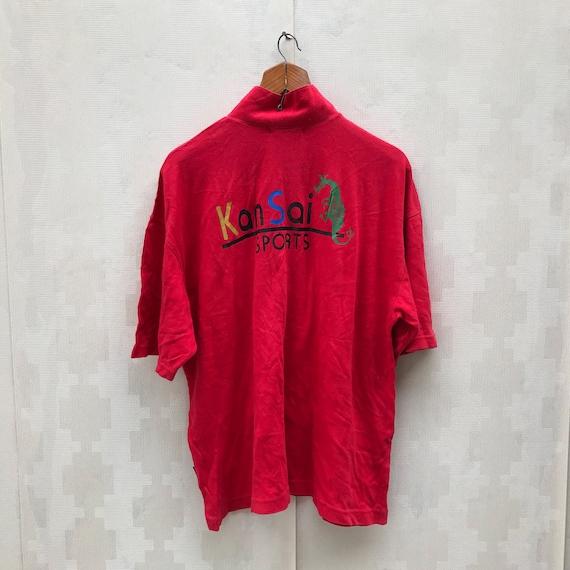 Vintage Kansai Sports Shirt / Front Zipper Shirt … - image 3