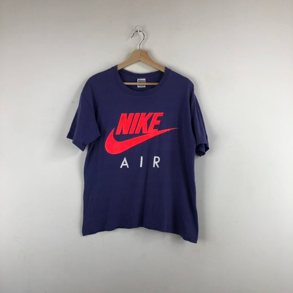 Vintage Nike Air Shirt / Nike Grey Tag / Neon Swoo