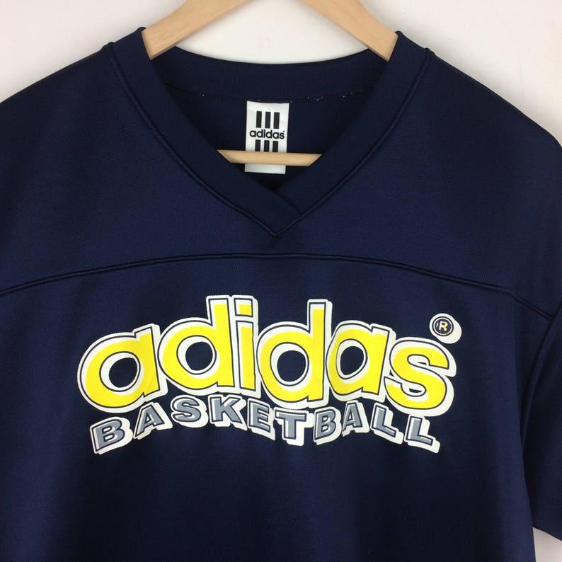 a094618ab2cf Vintage Adidas Basketball Shirt   Big Logo Double Sided Print