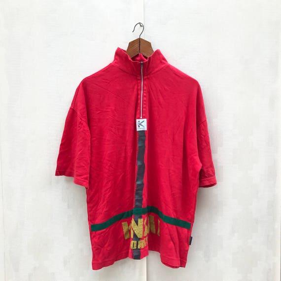 Vintage Kansai Sports Shirt / Front Zipper Shirt /