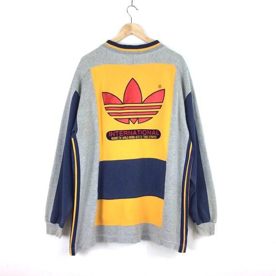 Vintage Adidas Trefoil Big Logo Sweatshirt / Adida