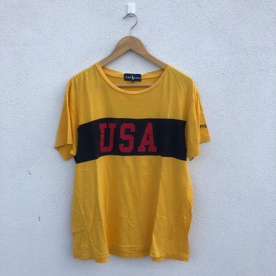 Vintage 90's Polo USA T Shirt / OG Polo Ralph Laur
