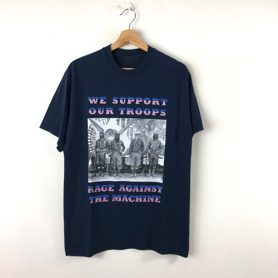 Vintage Rage Against The Machine Shirt / We Suppor