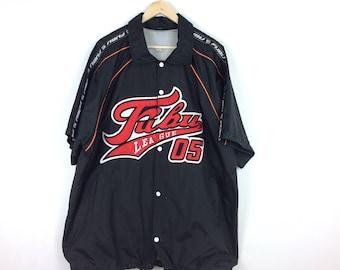 Vintage Fubu Button Front Shirt / Fubu Jersey / Fubu Big Logo / X Large Size Sweatshirt / Hip Hop 90' Fashion / Swag