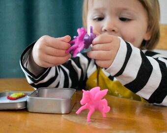 unicorn activity box, children's activity box, busy box,