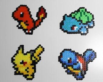Original starter Pokemon bead sprites