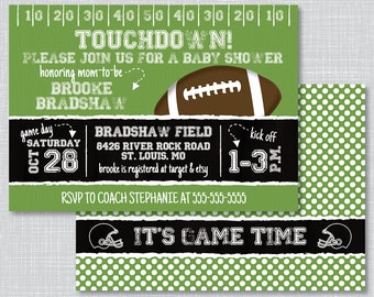football bridal shower invitations football wedding shower etsy
