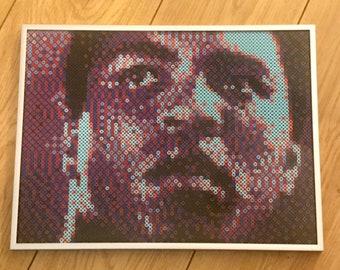 Muhammad Ali Pixel Art   Boxing Gift   Perler Beads   Hama Beads   Sports Art   Husband Gift   Boyfriend Gift   Anniversary Gift