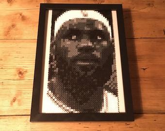 LeBron James Lakers Pixel Art   Basketball Gift   Perler Beads   Hama Beads   Sports Art   Game Room  Husband Gift   Boyfriend Gift