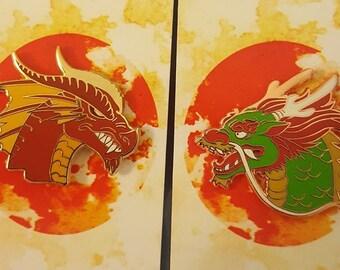 East vs West Dragon Pin Set